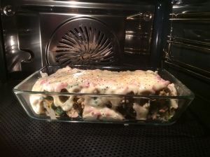 canneloni in oven