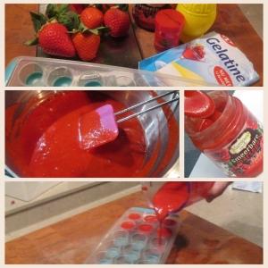 aardbeienblokjes